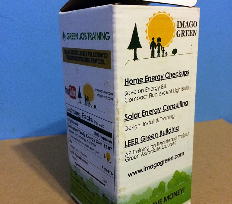 Light Bulb Product Box Design